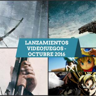 Lanzamiento Videojuegos Octubre 2016