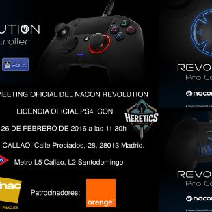 Presentación del NACON Revolution en el FNAC Forum de Callao con Heretics e-sports y Orange